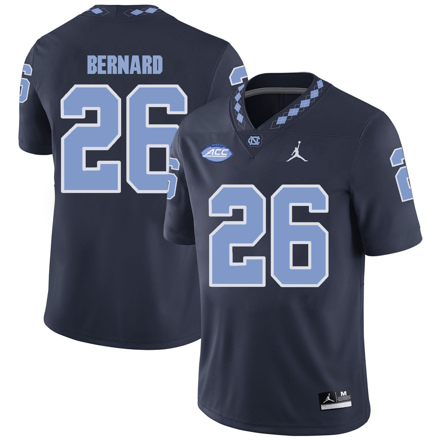North Carolina Tar Heels 26 Giovani Bernard Black College Football Jersey
