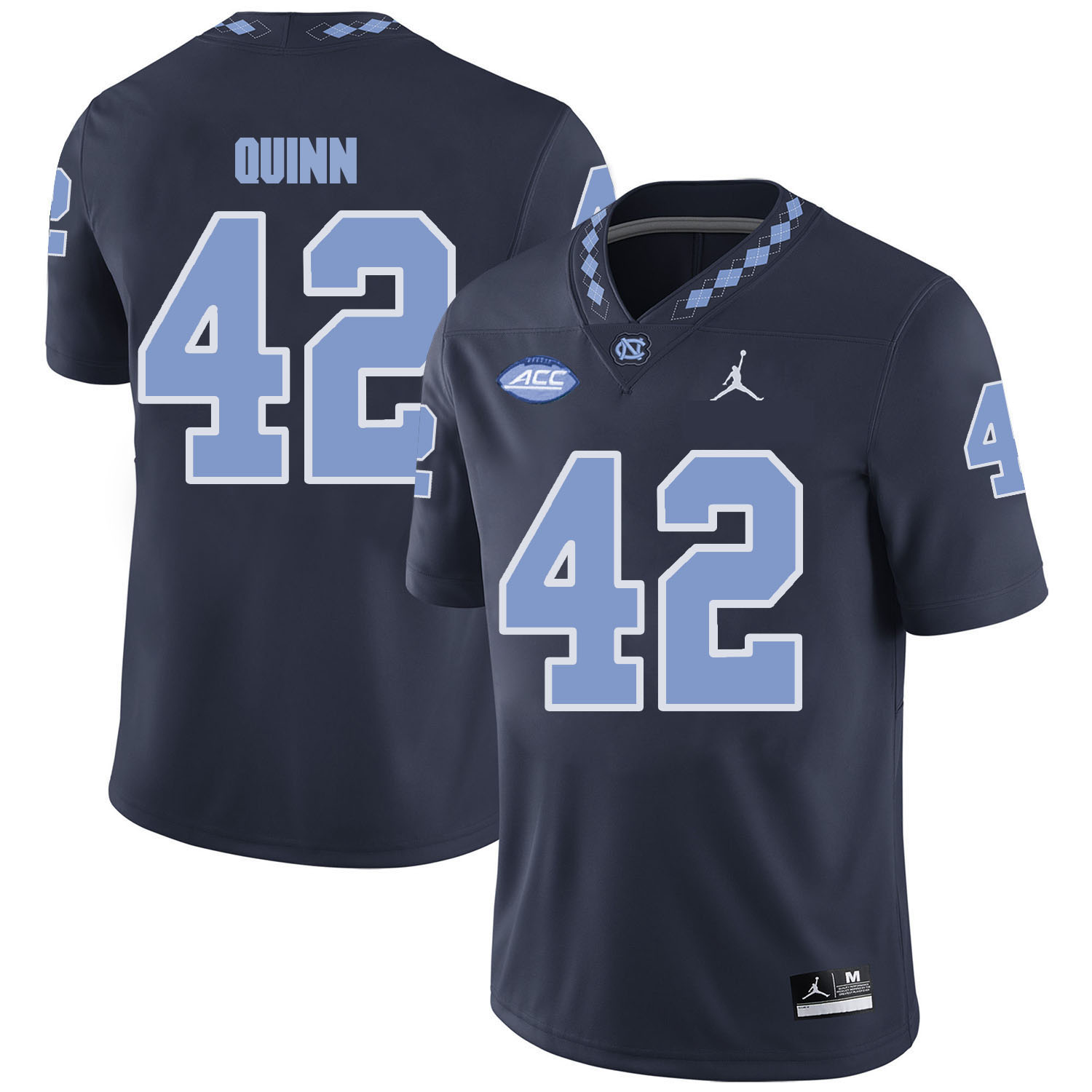 North Carolina Tar Heels 42 Robert Quinn Black College Football Jersey