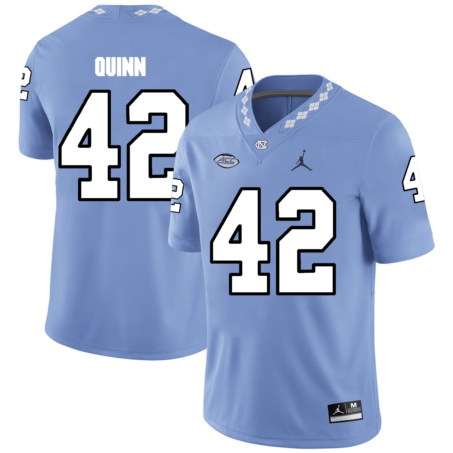 North Carolina Tar Heels 42 Robert Quinn Blue College Football Jersey