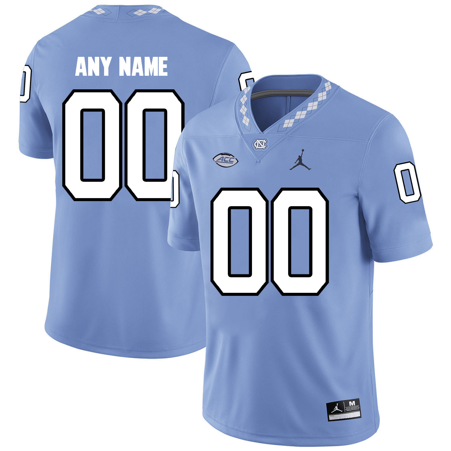 North Carolina Tar Heels Men's Customized Blue College Football Jersey