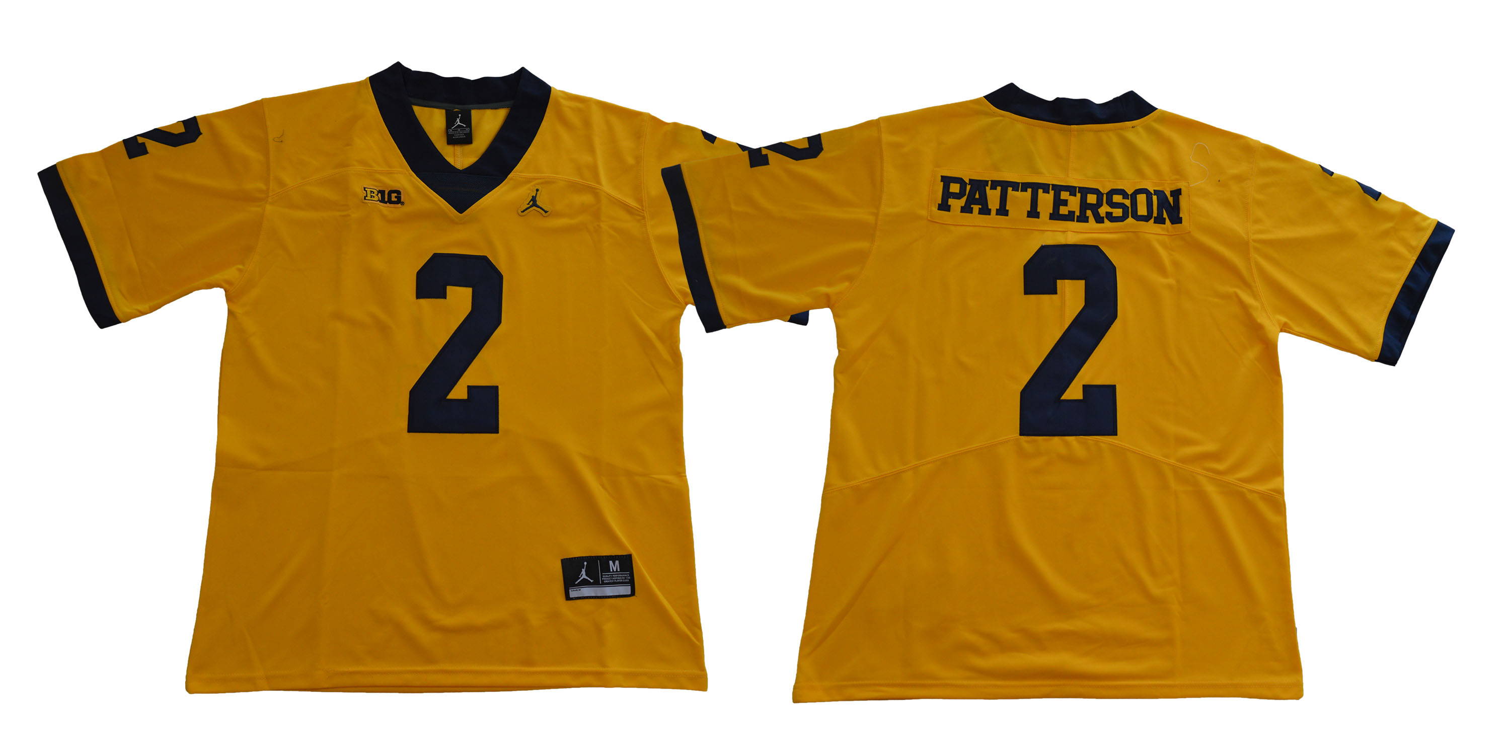 Michigan Wolverines 2 Shea Patterson Yellow College Football Jersey