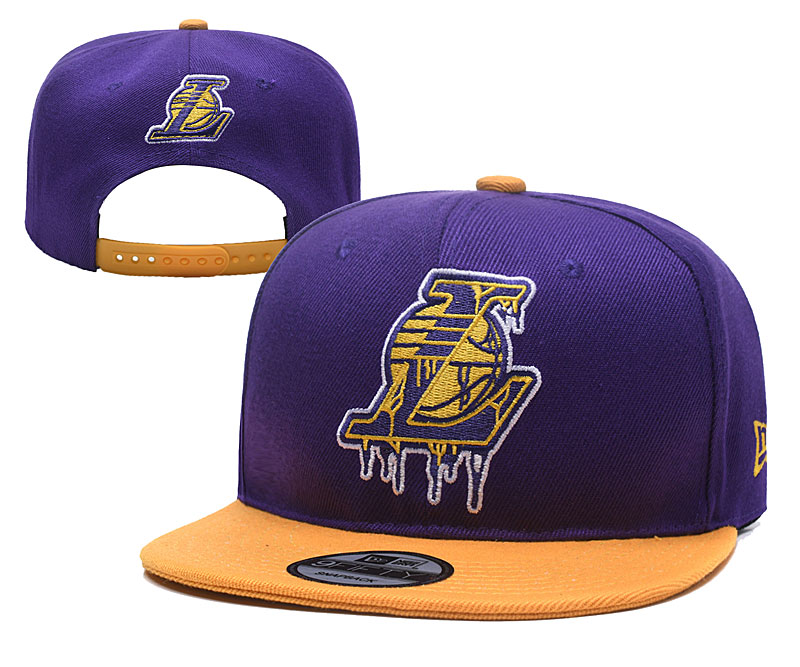 Lakers Team Big Logo Purple Adjustable Hat YD