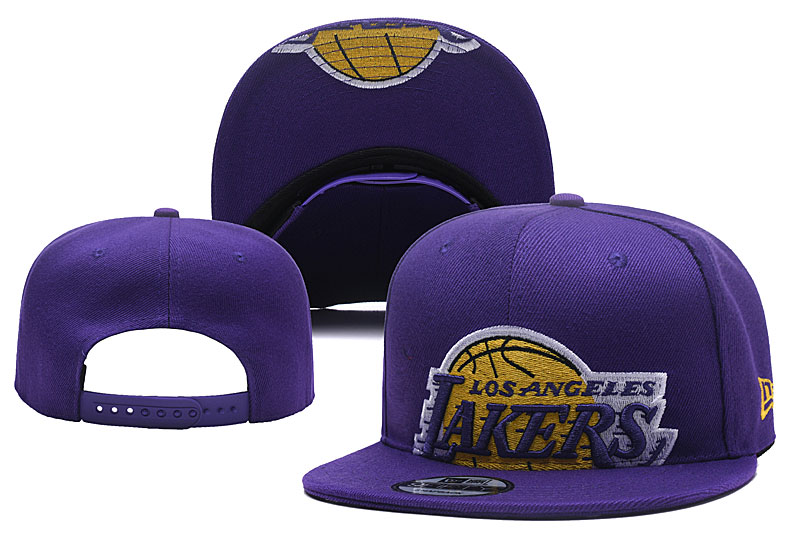 Lakers Team Logo Purple Adjustable Hat YD