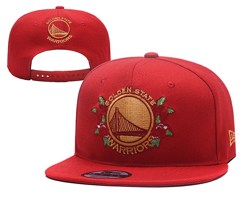 Warriors Team Logo Red Adjustable Hat YD