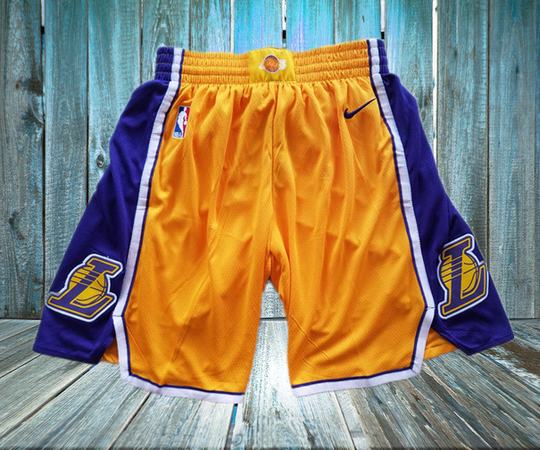 Lakers Yellow Nike Swingman Shorts