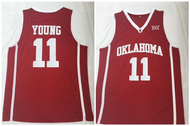 Oklahoma Sooners 11 Trae Young Red College Basketball Jersey