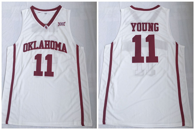 Oklahoma Sooners 11 Trae Young White College Basketball Jersey