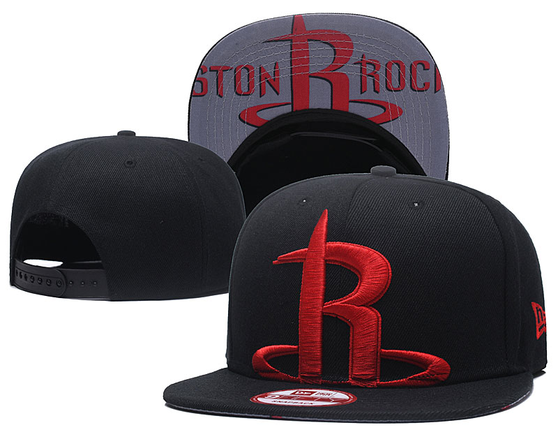 Rockets Team Logo Black Adjustable Hat GS