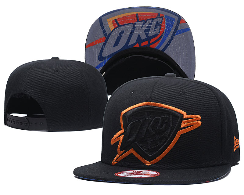 Thunder Team Logo Black Adjustable Hat GS