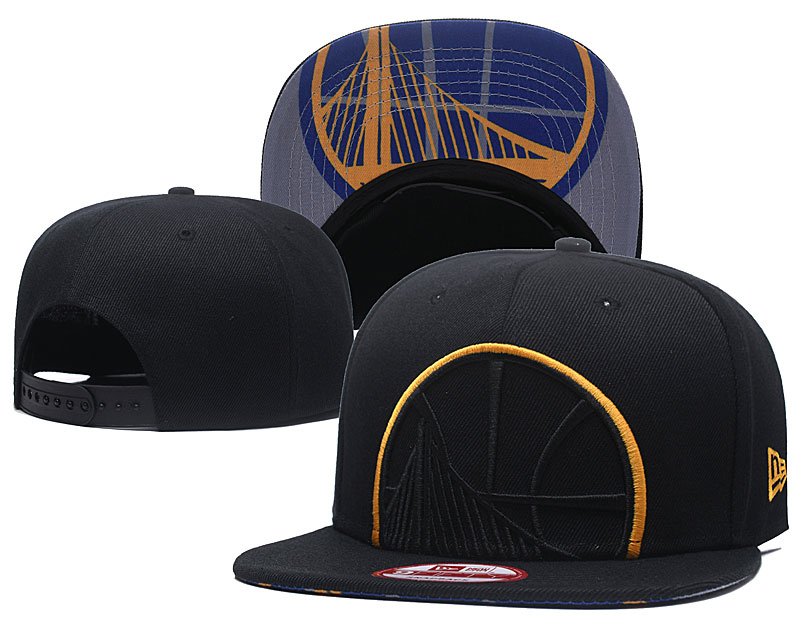 Warriors Team Logo Black Adjustable Hat GS