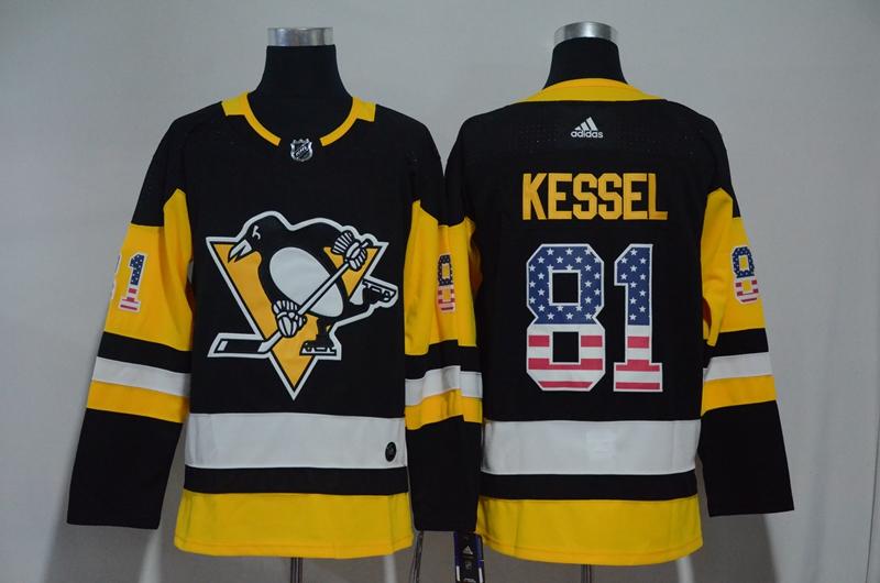 Penguins 81 Phil Kessel Black USA Flag Adidas Jersey