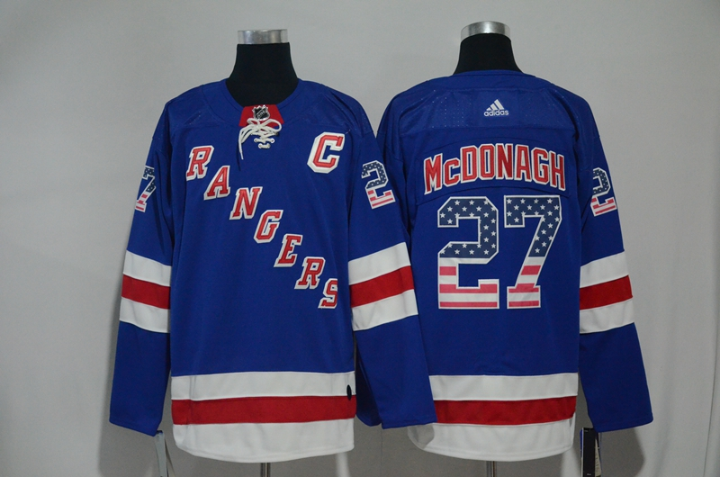 Rangers 27 Ryan McDonagh Blue US Flag Adidas Jersey