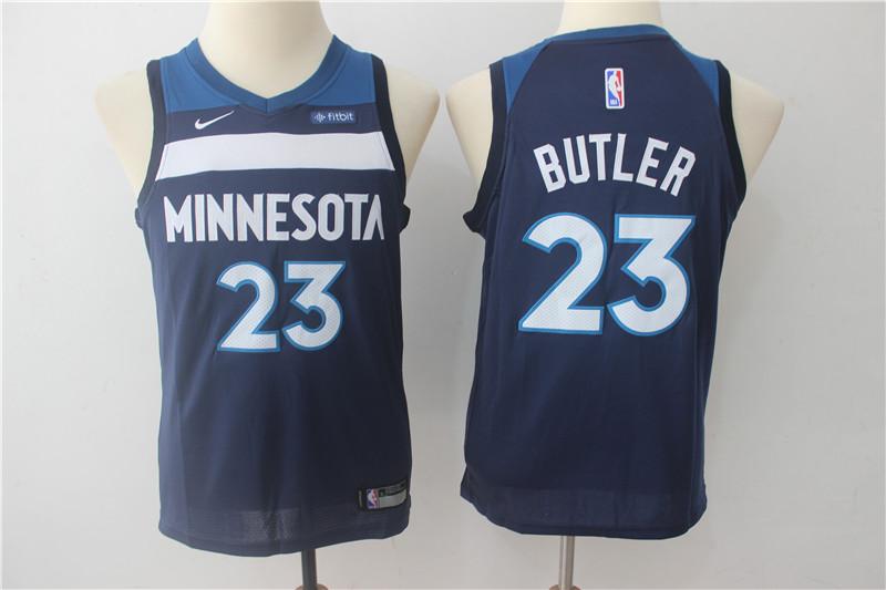 Timberwolves 23 Jimmy Butler Navy Youth Nike Swingman Jersey
