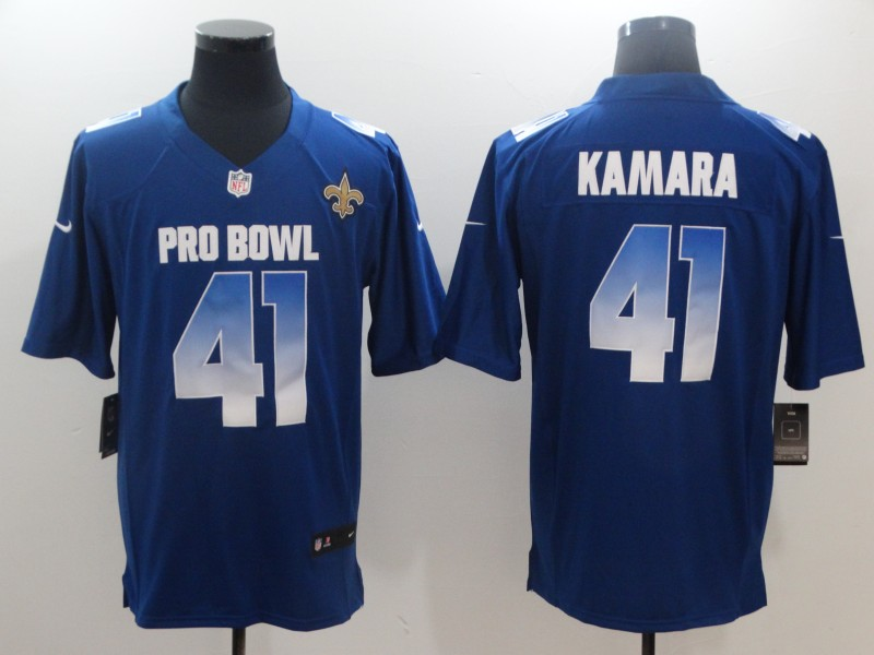 Nike NFC Saints 41 Alvin Kamara Royal 2018 Pro Bowl Game Jersey
