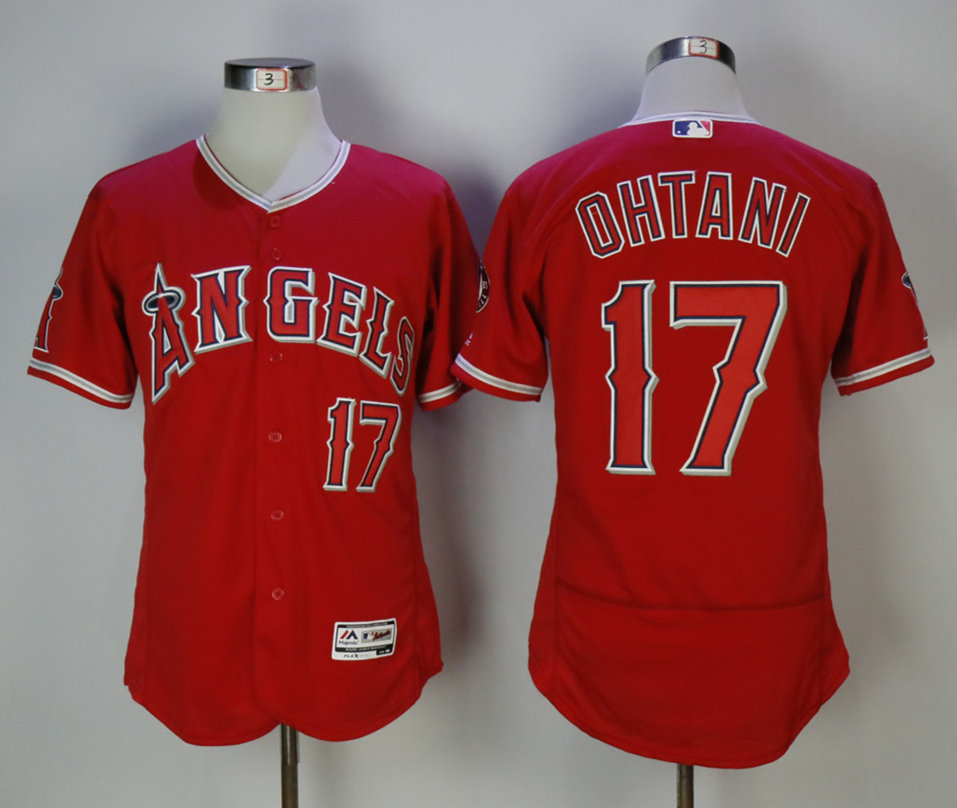 Angels 17 Shohei Ohtani Red Flexbase Jersey
