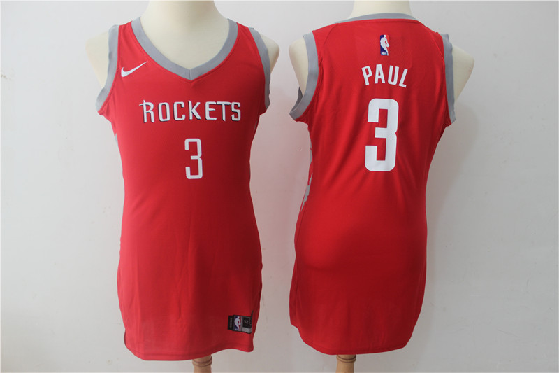 Rockets 3 Chris Paul Red Women Nike Swingman Jersey