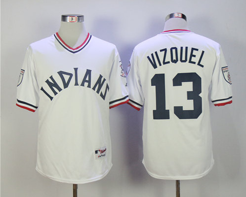 Indians 13 Omar Vizquel White Turn Back The Clock Jersey