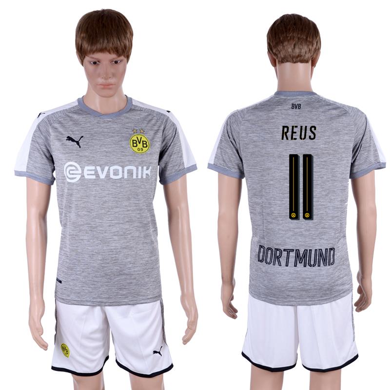 2017-18 Dortmund 11 REUS Third Away Soccer Jersey