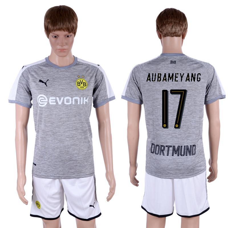 2017-18 Dortmund 17 AUBAMEYANG Third Away Soccer Jersey