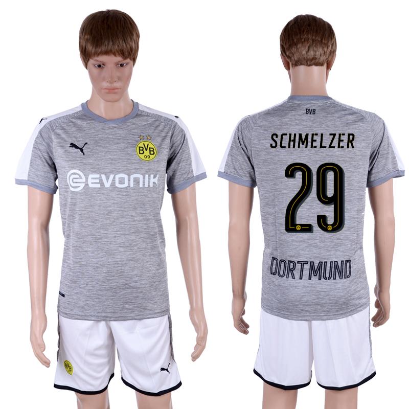 2017-18 Dortmund 29 SCHMELZER Third Away Soccer Jersey
