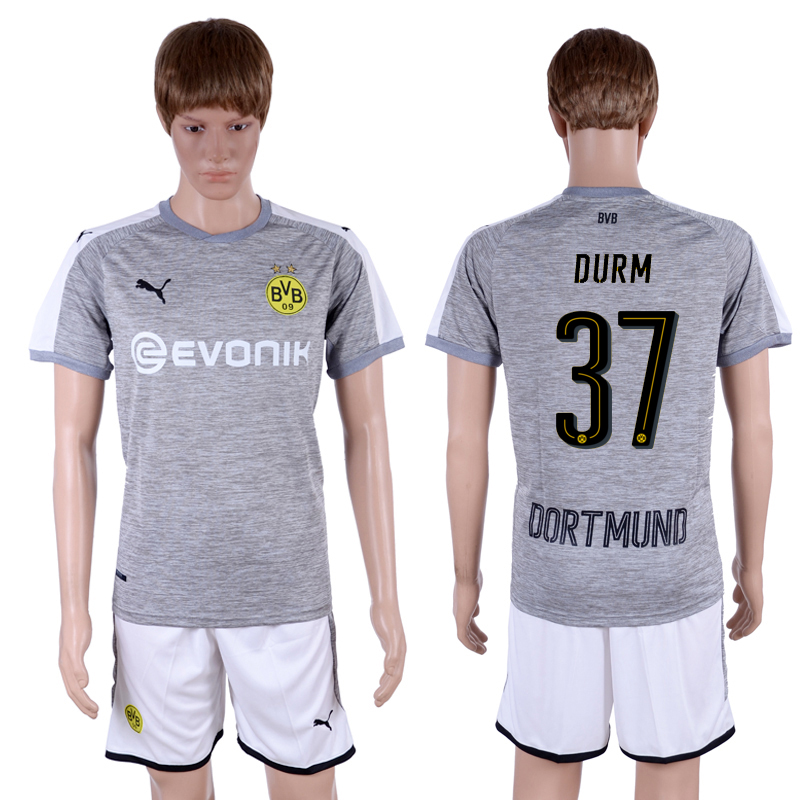 2017-18 Dortmund 37 DURM Third Away Soccer Jersey