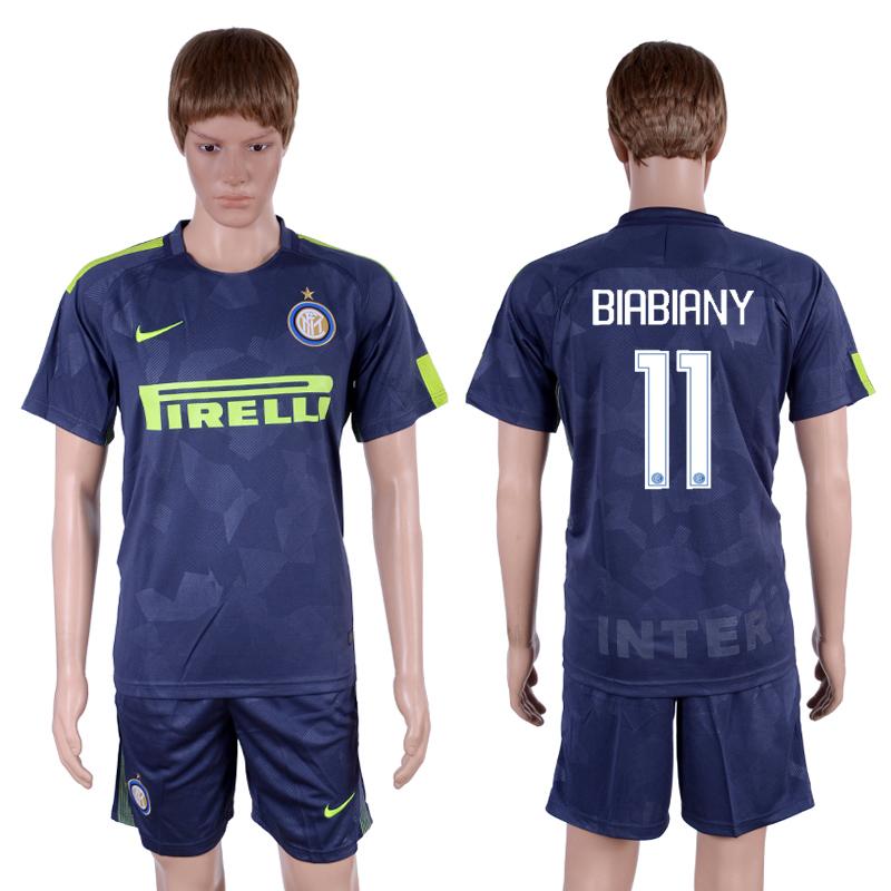 2017-18 Inter Milan 11 BIABIANY Third Away Soccer Jersey