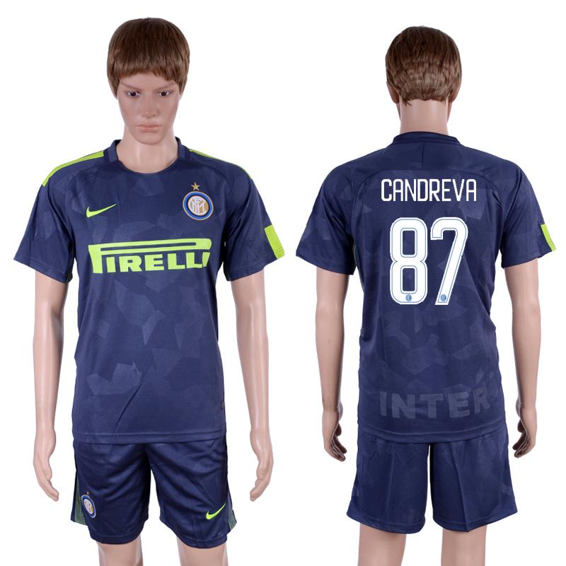 2017-18 Inter Milan 87 CANDREVA Third Away Soccer Jersey