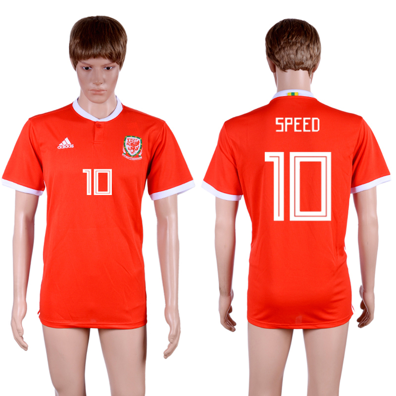 2018-19 Wales 10 SPEED Home Thailand Soccer Jersey