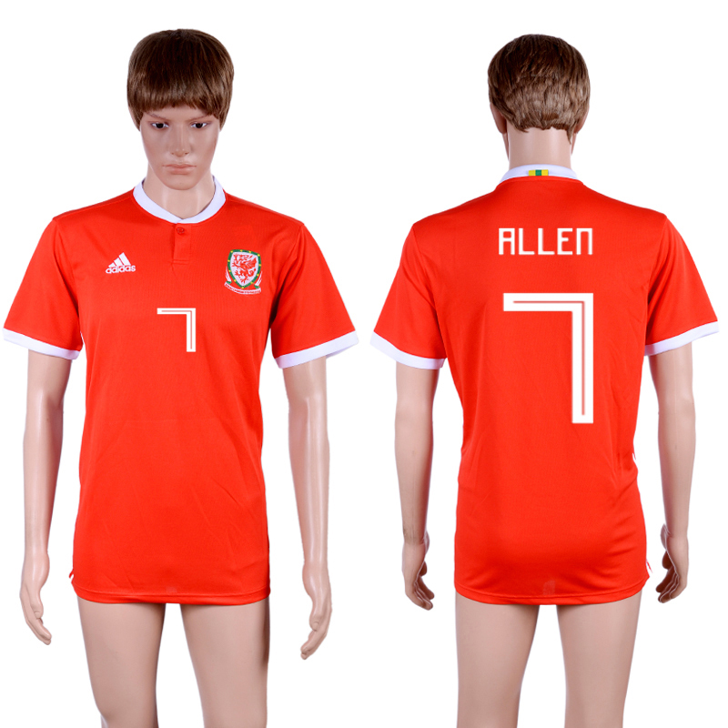 2018-19 Wales 7 ALLEN Home Thailand Soccer Jersey