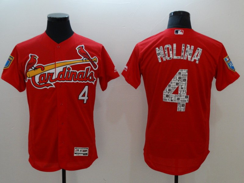 Cardinals 4 Yadier Molina Red 2018 Spring Training Flexbase Jersey