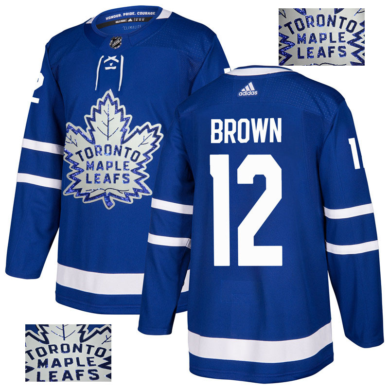 Maple Leafs 12 Connor Brown Blue Glittery Edition Adidas Jersey