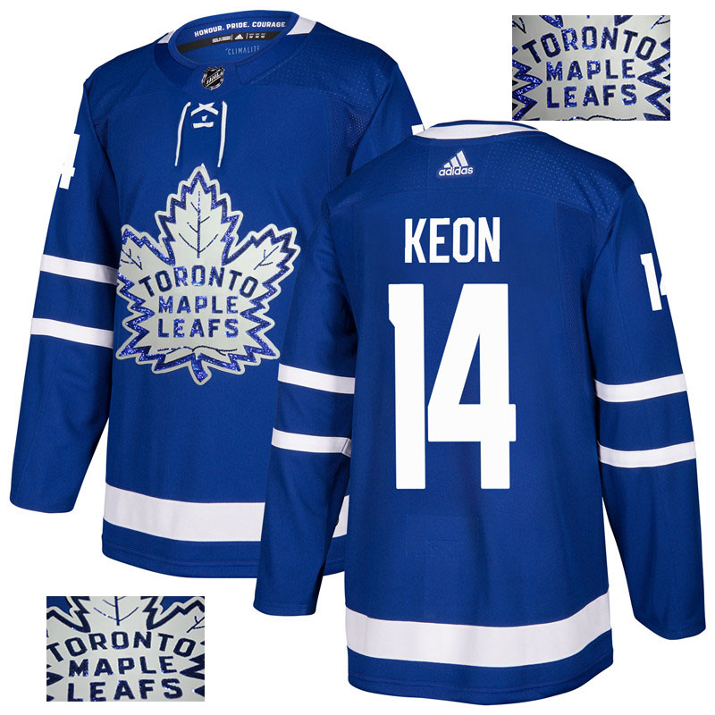 Maple Leafs 14 Dave Keon Blue Glittery Edition Adidas Jersey