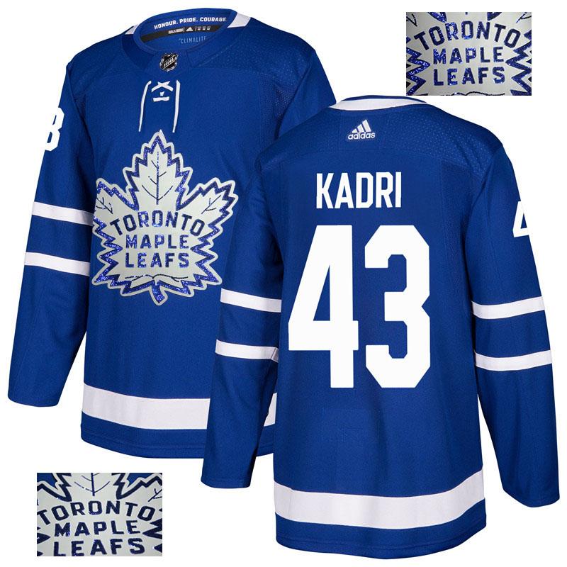 Maple Leafs 43 Nazem Kadri Blue Glittery Edition Adidas Jersey
