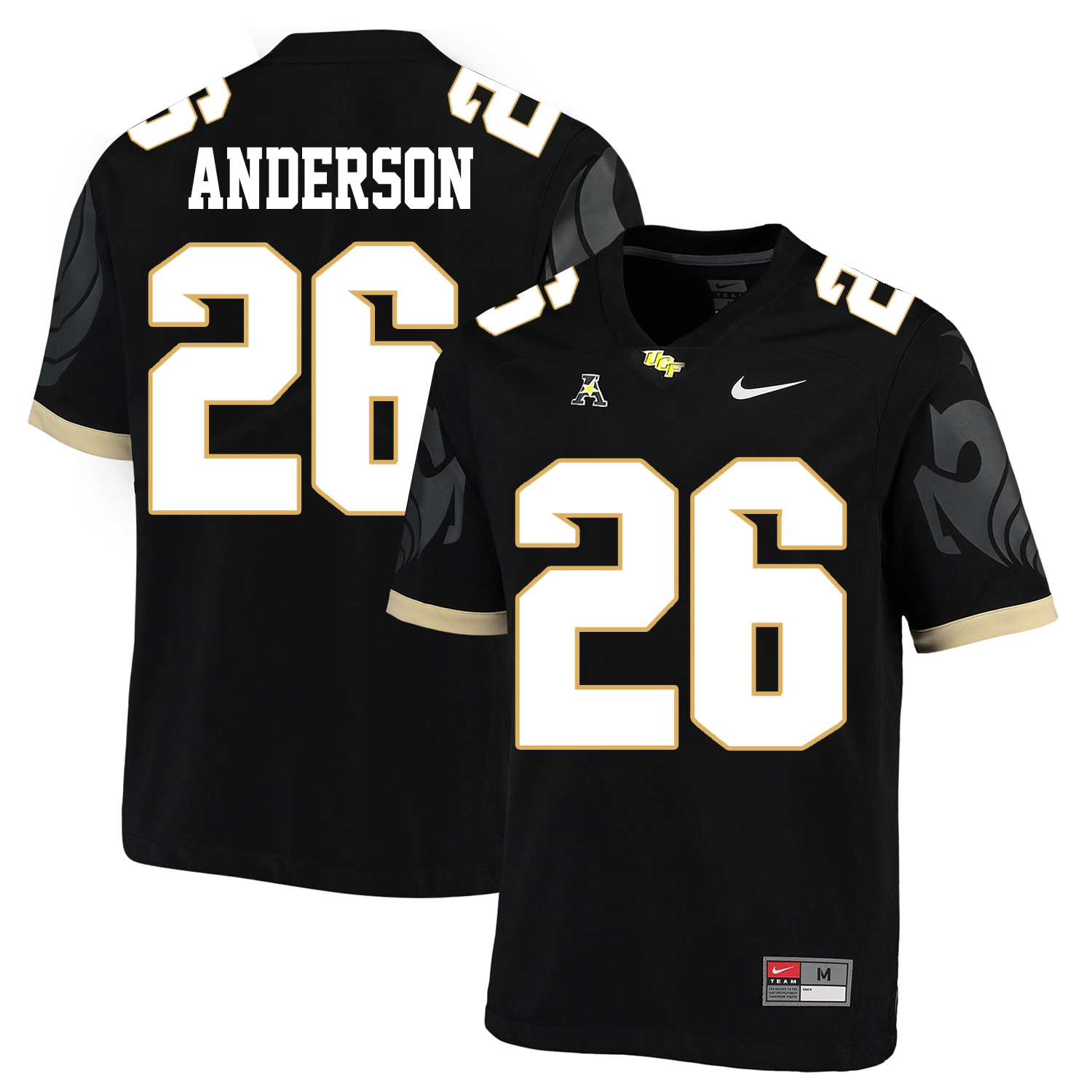 UCF Knights 26 Otis Anderson Black College Football Jersey