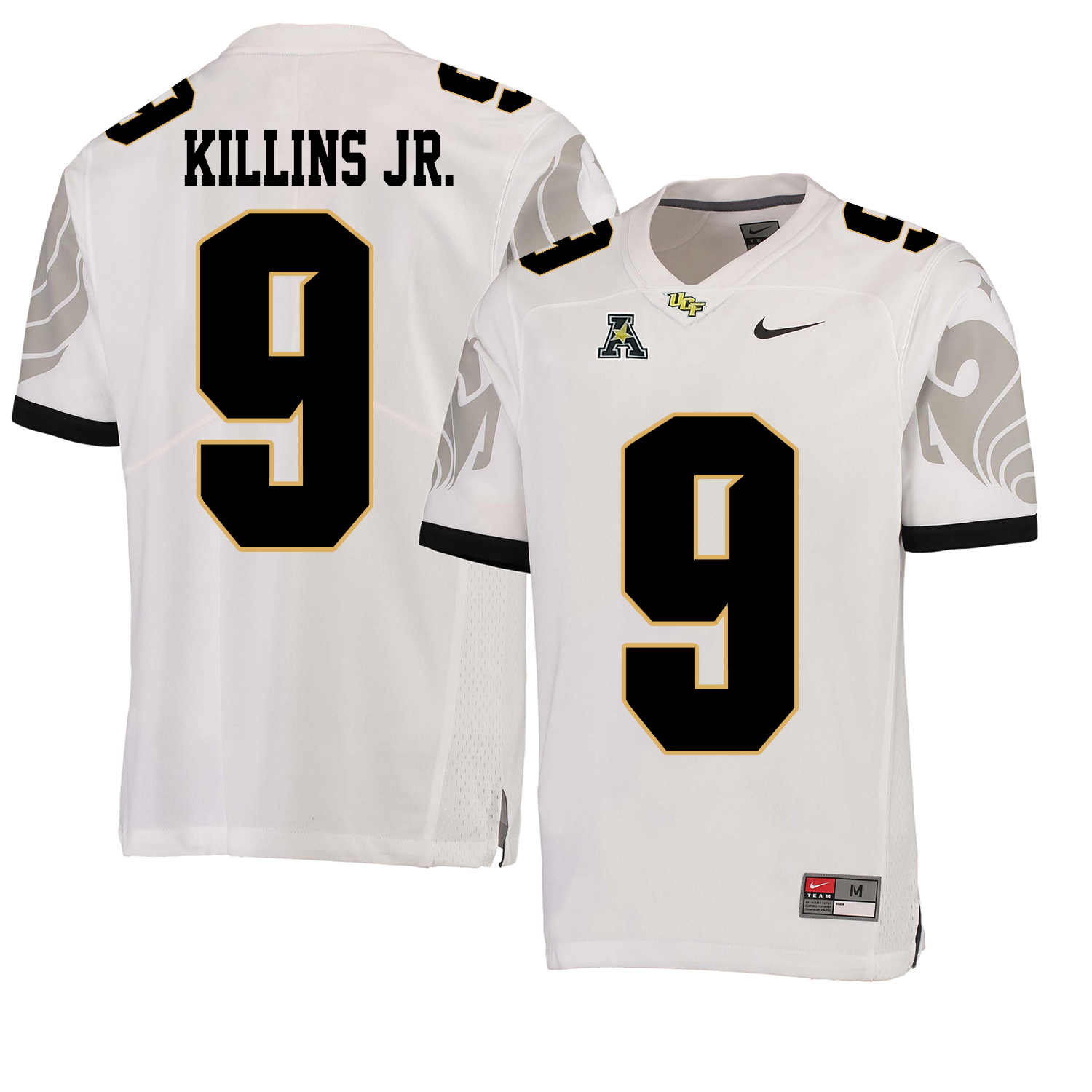 UCF Knights 9 Adrian Killins Jr. White College Football Jersey