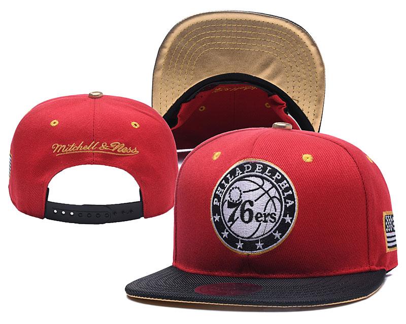 76ers Team Logo Mitchell & Ness Adjustable Hat YD