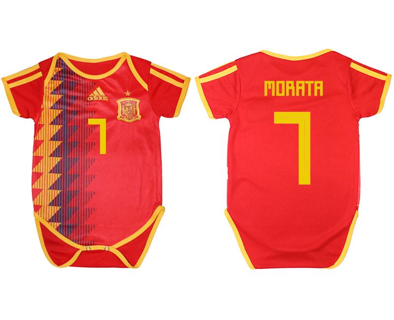 Espana 1 MORATA Home Toddler 2018 FIFA World Cup Soccer Jersey