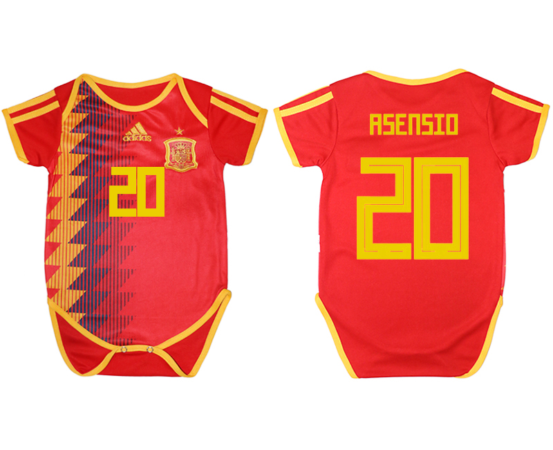 Espana 20 ASENSIO Home Toddler 2018 FIFA World Cup Soccer Jersey