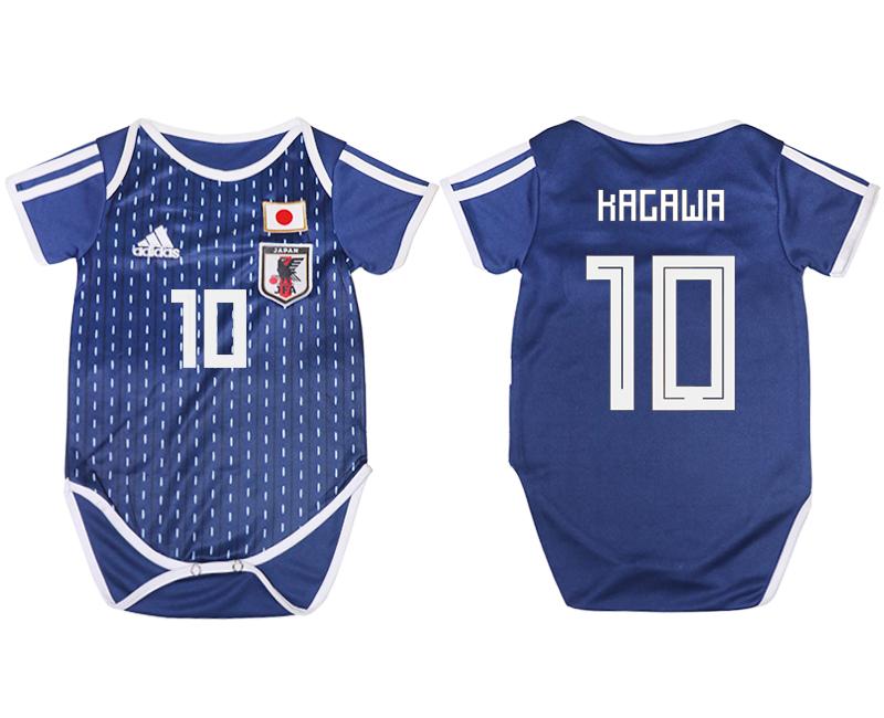Japan 10 KAGAWA Home Toddler 2018 FIFA World Cup Soccer Jersey