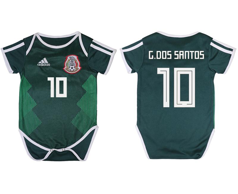 Mexico 10 G. DOS SANTOS Home Toddler 2018 FIFA World Cup Soccer Jersey