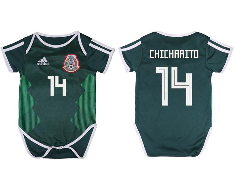 Mexico 14 CHICHARITO Home Toddler 2018 FIFA World Cup Soccer Jersey
