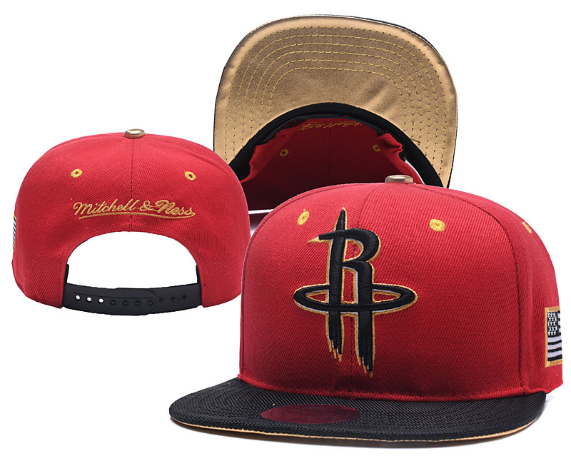 Rockets Team Logo Mitchell & Ness Adjustable Hat YD