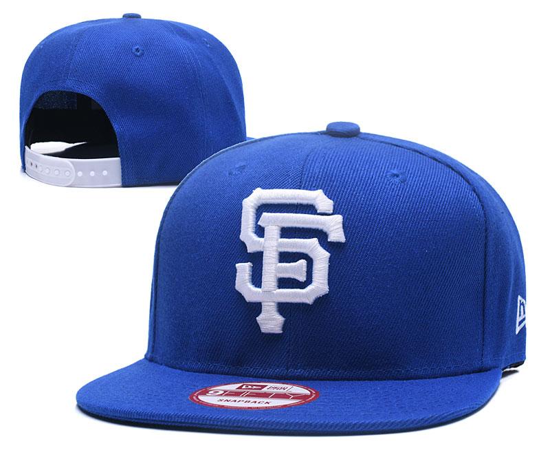 SF Giants Team Logo Blue Adjustable Hat GS