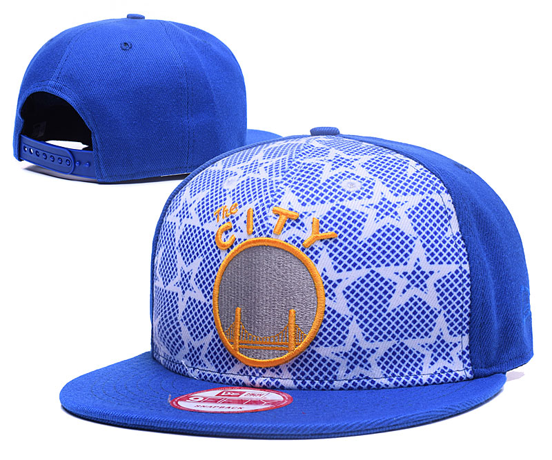 Warriors Team Logo Blue Adjustable Hat GS