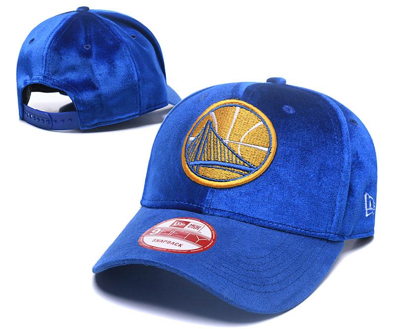 Warriors Team Logo Blue Peaked Adjustable Hat GS