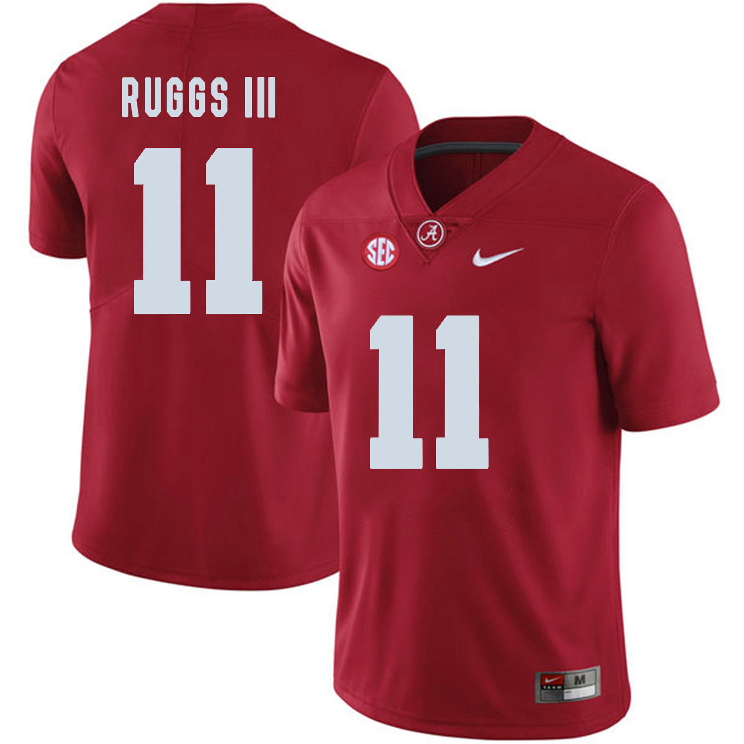 Alabama Crimson Tide 11 Henry Ruggs III Red College Football Jersey