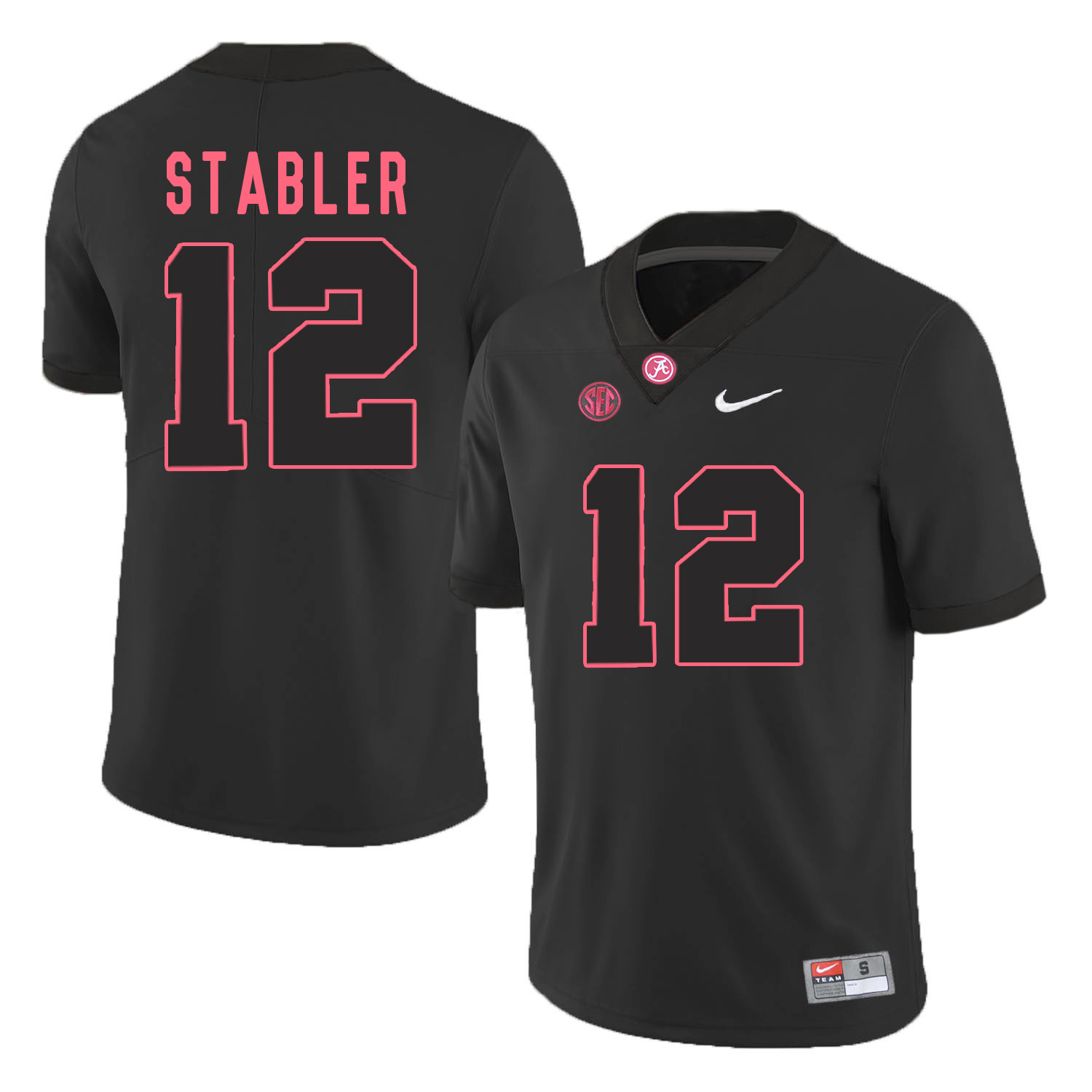 Alabama Crimson Tide 12 Ken Stabler Black College Football Jersey