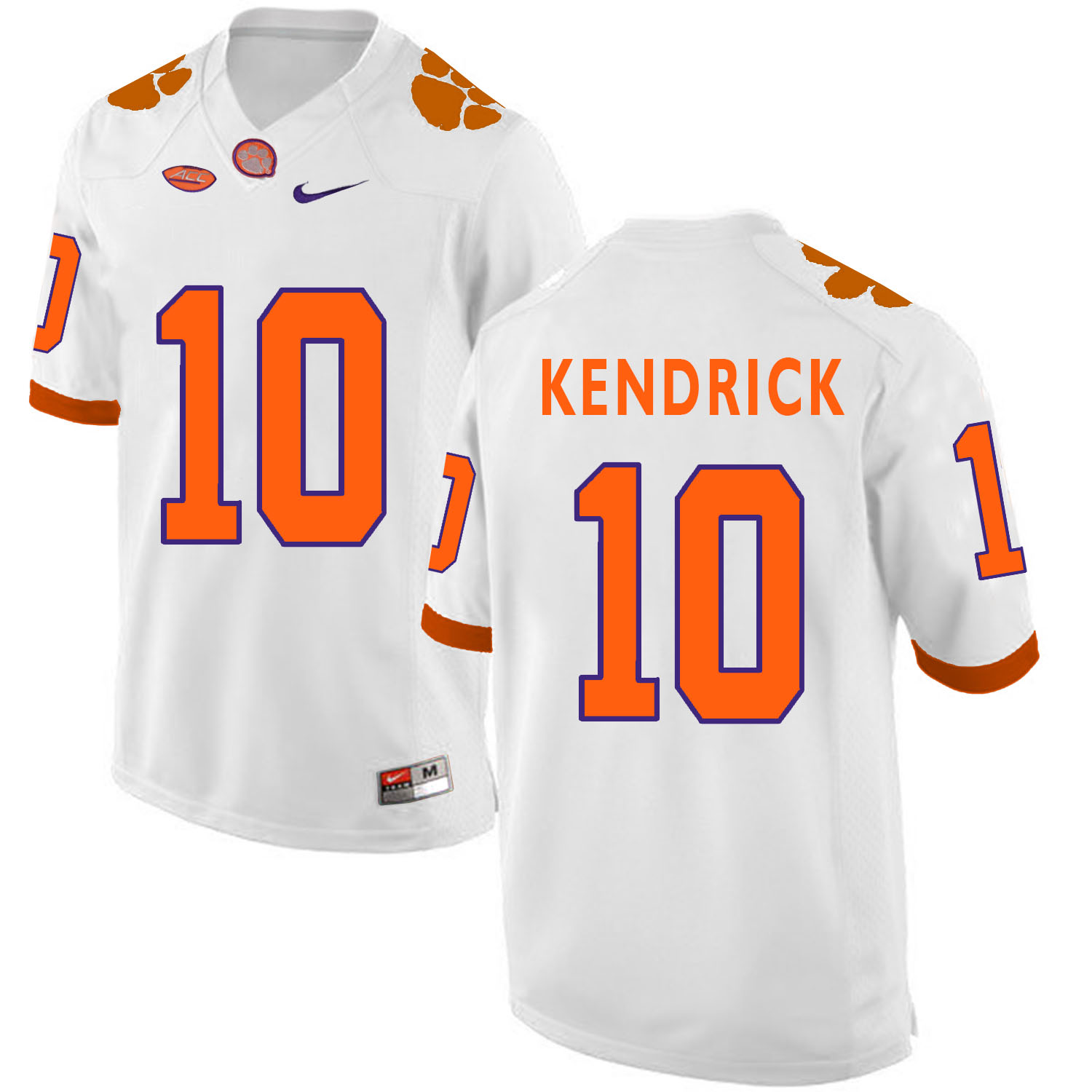 Clemson Tigers 10 Derion Kendrick White College Football Jersey
