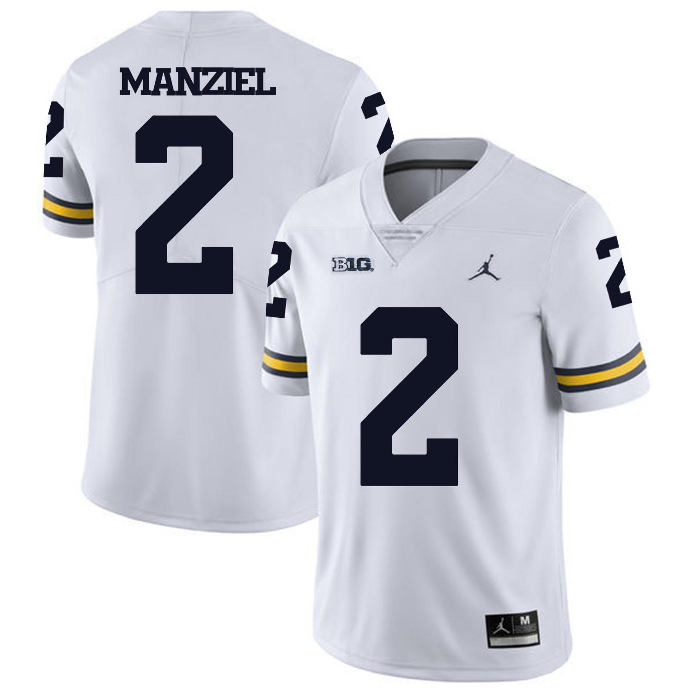 Michigan Wolverines 2 Johnny Manziel White College Football Jersey