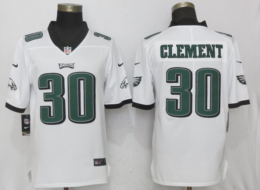 Nike Eagles 30 Corey Clement White Vapor Untouchable Player Limited Jersey